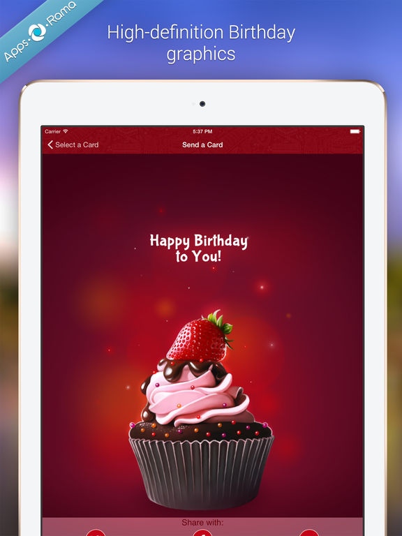 Birthday Cards for Friends Family on the App Store – Ipad Birthday Card