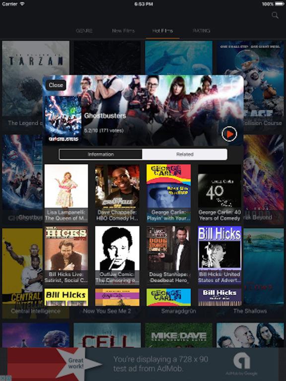 Show HD - Movie & Cinema Trailer Box Screenshots