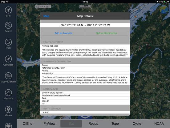 Marine: Michigan & Superior Lakes HD iPad Screenshot 2