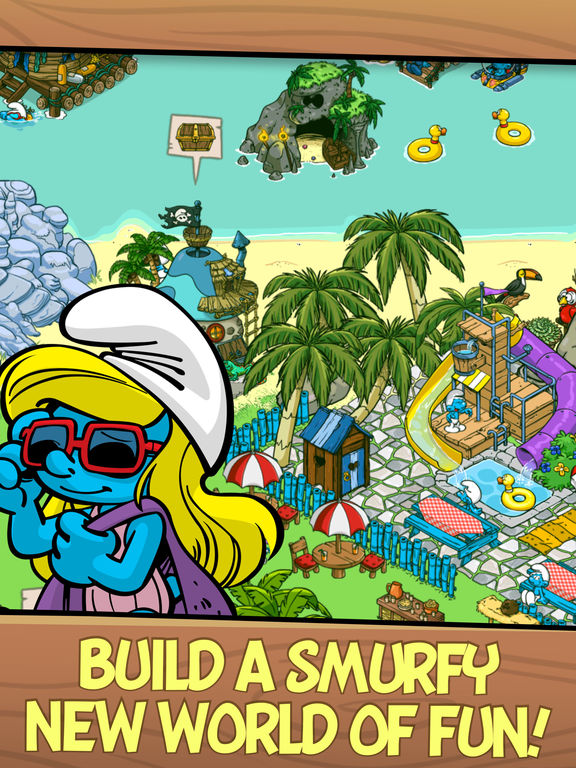 Screenshots of Smurfs' Village for iPad