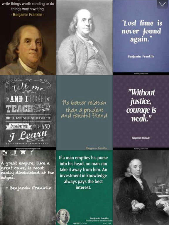 benjamin franklin and his relation to