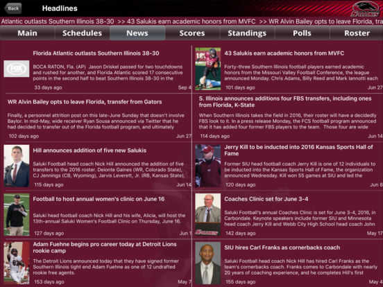 Southern Illinois Salukis College SuperFans iPad Screenshot 1