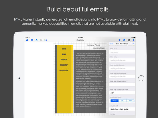 HTML Mailer - email and newsletter designer Screenshots