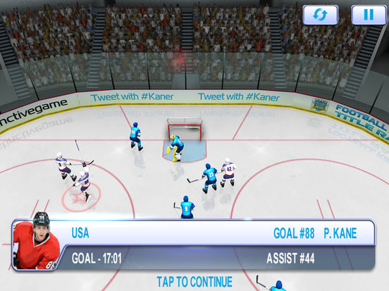 Patrick Kane's MVP Hockey Screenshots