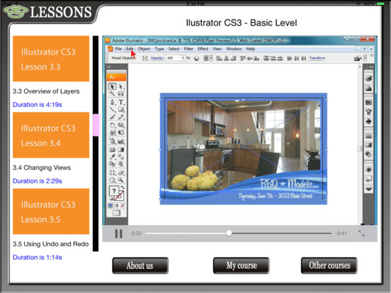 Illustrator CS3 HD Video Training iPad Screenshot 1