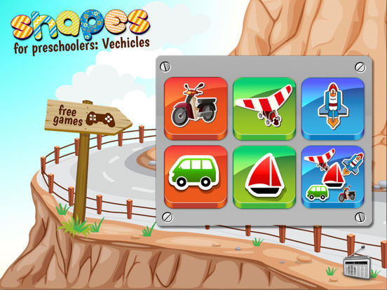 Shapes for preschoolers: Vehicles Screenshots