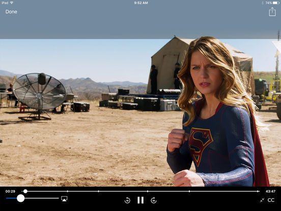 Screenshots of The CW for iPad