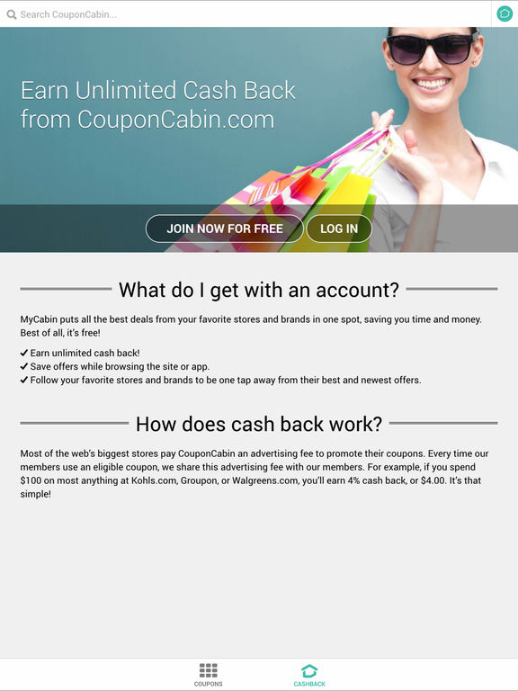 Couponcabin apppicker for Coupon cabin app