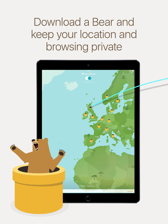 TunnelBear VPN – A really simple app to unblock websites and browse privately screenshot