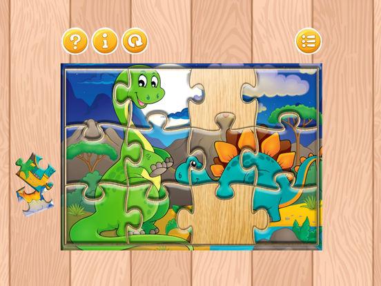 Мультфильм Дино Динозавр Пазлы Jigsaw игры Скриншоты6