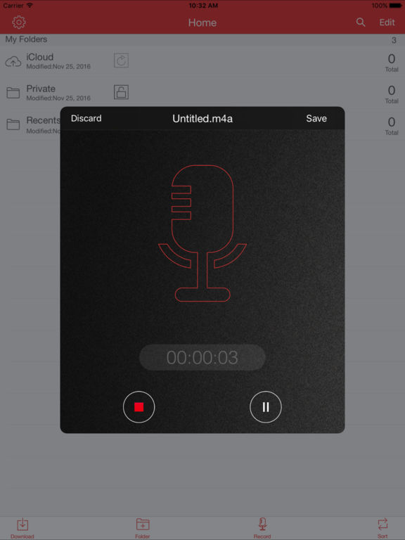 Recorder Pro: Professional Voice Recorder Screenshots