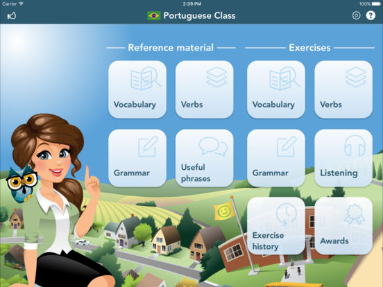 Portuguese Class iPad Screenshot 1