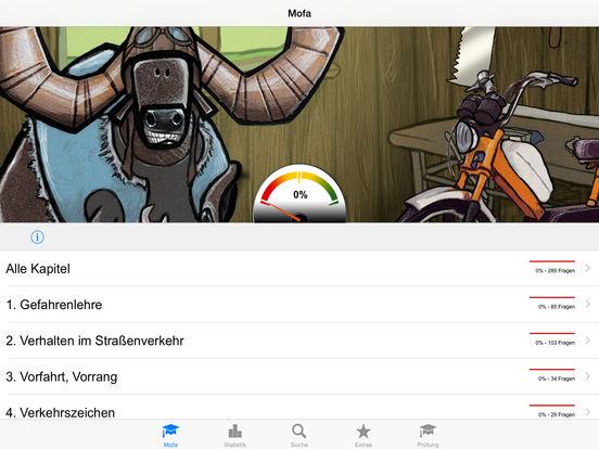 Mofaführerschein iPad Screenshot 1