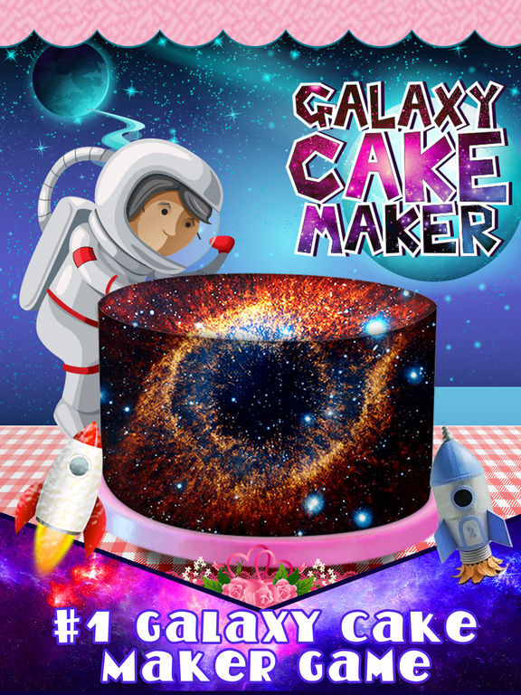 App shopper diy galaxy real cake maker mirror fondant for Galaxy maker