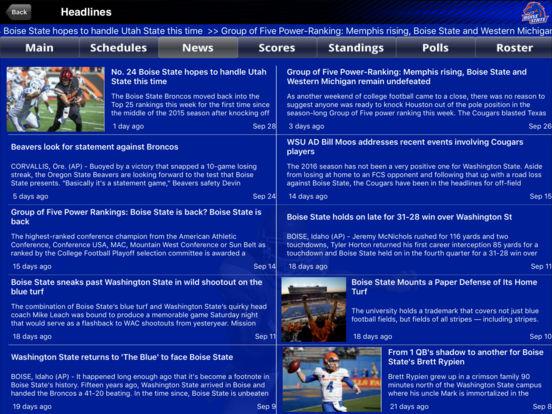 Boise State Broncos College SuperFans iPad Screenshot 2