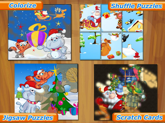 Happy Christmas Time with Santa Claus, Snowman, Elf, Reindeer Jigsaw Puzzles: Fun Educational Game for Kids and Toddlers screenshot 7