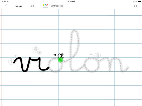 ABC-Lettres-Liées iPad Screenshot 1