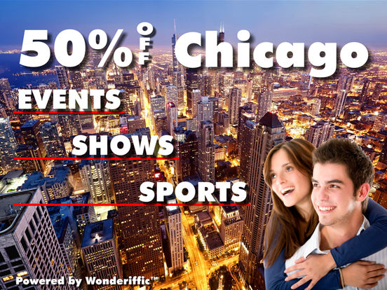 50% Off Chicago Events, Shows and Sports Guide by Wonderiffic ® screenshot