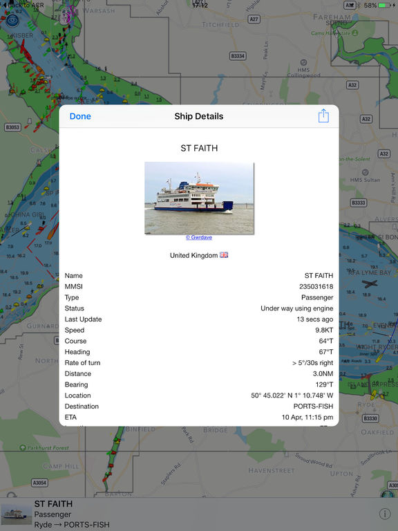 Boat Beacon - AIS Marine Navigation screenshot