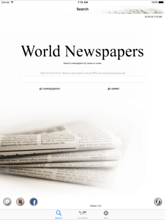 World Newspapers the News Search Engine Screenshots