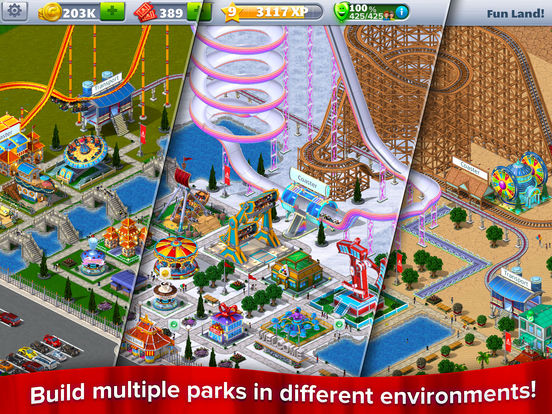 RollerCoaster Tycoon® 4 Mobile™ Screenshots