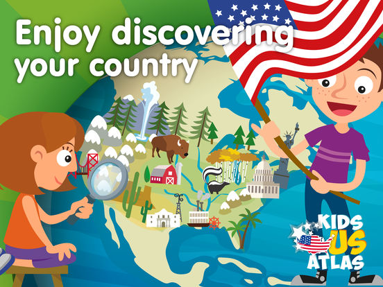 Kids US Atlas - United States Fun Geography Games Screenshots