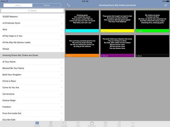 ProPresenter Remote iPad Screenshot 1