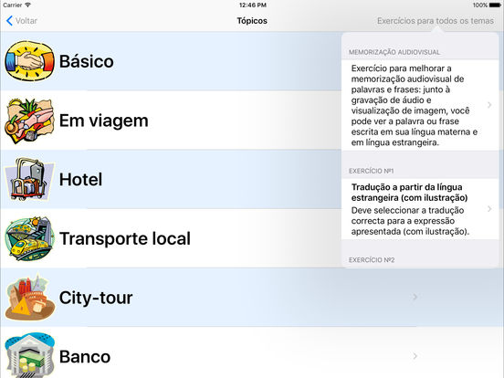 Professor de línguas iPad Screenshot 1
