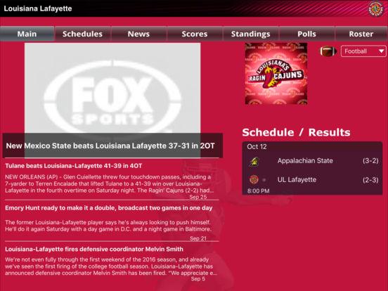 Louisiana Lafayette Ragin' Cajuns College SuperFans iPad Screenshot 2
