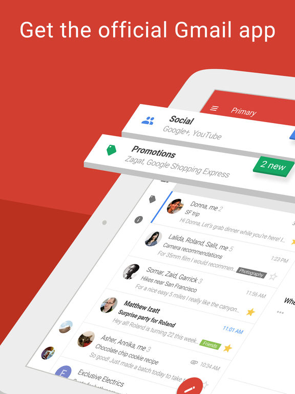 Image of Gmail - email by Google: secure, fast & organized for iPad