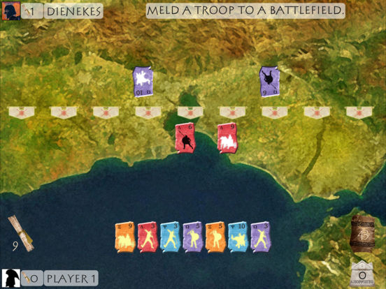 Reiner Knizia's Battleline iPad Screenshot 2