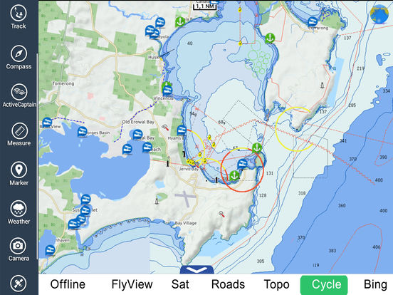 Marine: Sydney HD - GPS Map Navigator iPad Screenshot 4