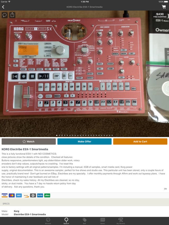 Reverb.com — Buy & Sell Gear screenshot