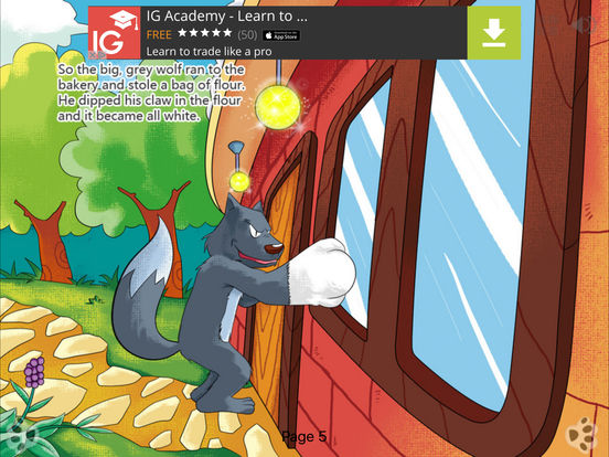 Interactive Book-The Wolf and the Seven Little Goats-iBigToy iPad Screenshot 4