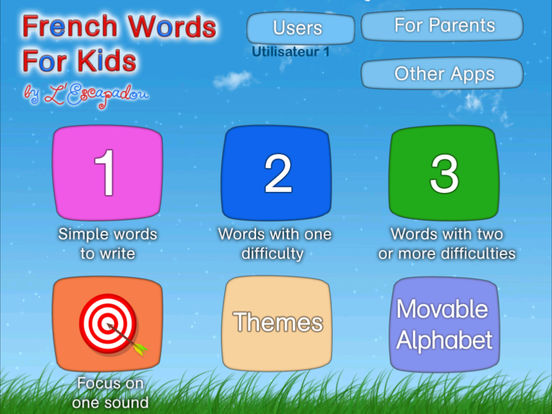 French Words for Kids HD - Learn to Pronounce and Write French Words with Dictée Muette Montessori iPad Screenshot 3