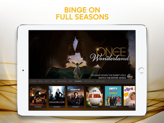 Screenshots of ABC – Watch live TV and stream full episodes! (formerly WATCH ABC) for iPad
