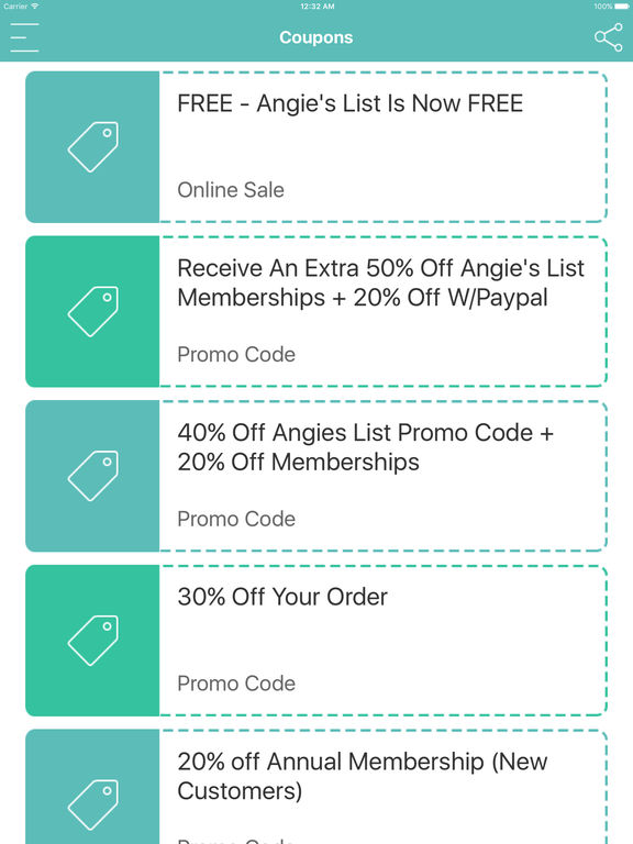 View Angie's List Deals How to Use Coupons and Codes. It's easy to get a discount on an Angie's List membership. Just enter your zip code and email address, and then look for the