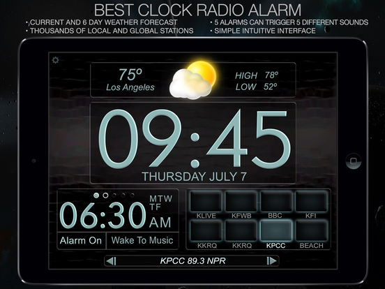 best clock radio alarm f on the app store. Black Bedroom Furniture Sets. Home Design Ideas