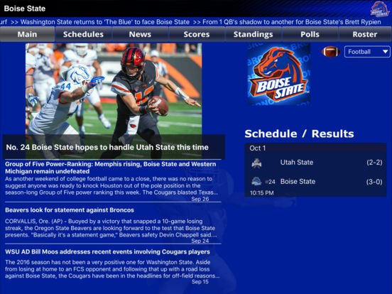 Boise State Broncos College SuperFans iPad Screenshot 1