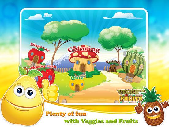 Veggies & Fruits: kids educational games - Englishscreeshot 1