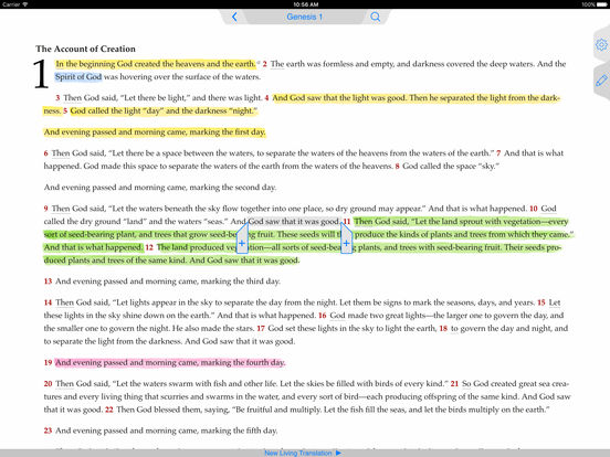 NLT Bible iPad Screenshot 1