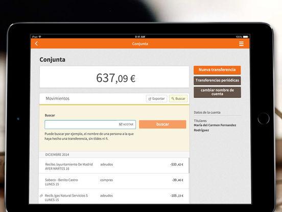 Bankinter iPad Screenshot 2