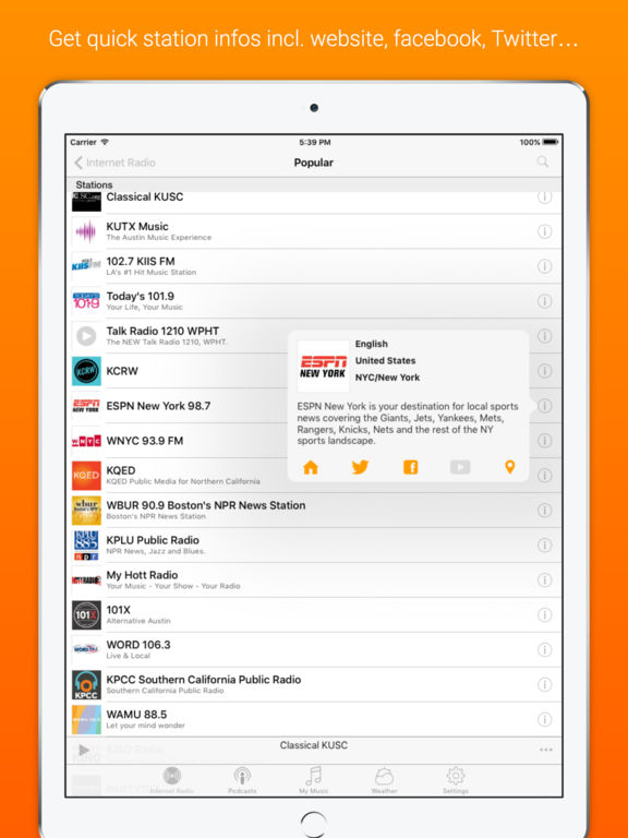 Receiver - Internet Radio Screenshots