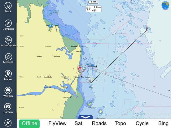 Marine: Coral Sea HD - GPS Map Navigator iPad Screenshot 3
