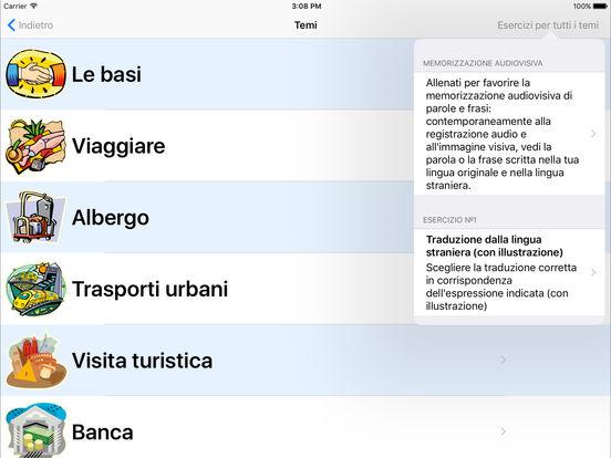 Esercilingue Jourist iPad Screenshot 1