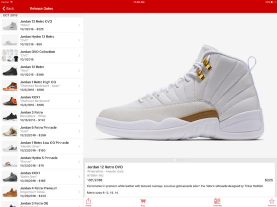 J23 - Jordan Release Dates and History Screenshots