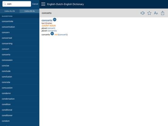 Audio Collins Mini Gem English-Dutch & Dutch-English Dictionary iPad Screenshot 2