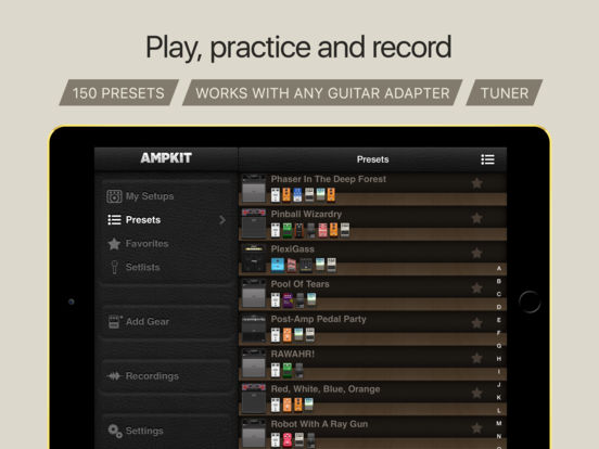 AmpKit iPad Screenshot 2