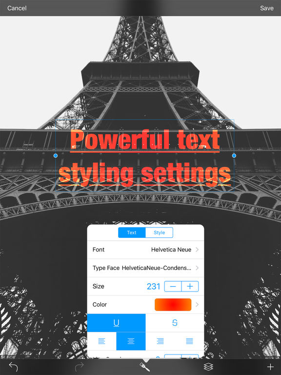 Type - text on image with custom fonts & blending Screenshots