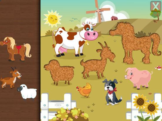Пазлы с животными для младенцев и детей